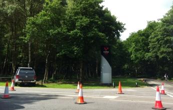 Entering Oulton Park.