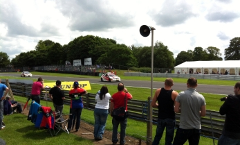 Race One; Civics of Shedden and Neal make their way round to the grid.