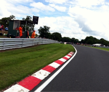 Crossing the track is exciting. This is the view back up towards Old Hall.