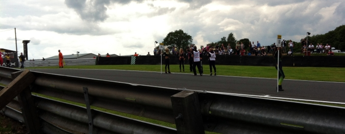 A panorama of......more grid girls