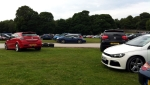 Astra VXR, Ferrari California, VW Scirocco, Porsche Boxster, Citroen C4. Which is the odd one out?
