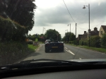 Following a Ferrari 360 Spider through rural West Sussex en route.
