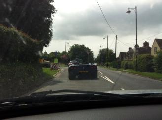 Following a Ferrari 360 Spider through rural West Sussex en route.