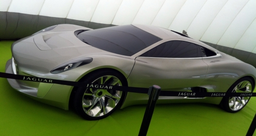 The rather beautiful Jaguar C-X75 concept.