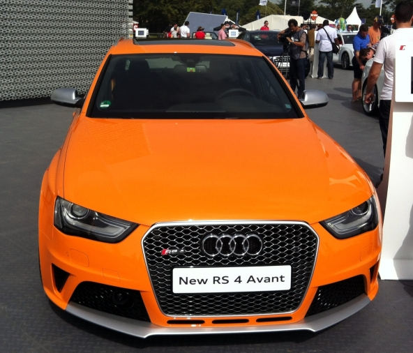 Orangey goodness; the new Audi RS4.