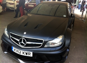 Looking evil in matte black, the Mercedes C63 AMG Black Edition