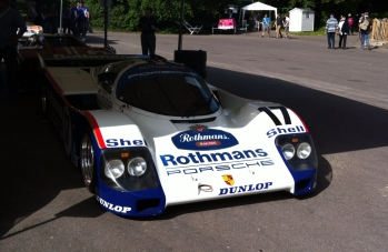 1987 Porsche 962C warms itself in the afternoon sun.