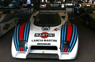 The quick, but unreliable, Lanica-Ferrari LC2 from 1983. Uses a turbocharged Ferrari 308 GTB engine.
