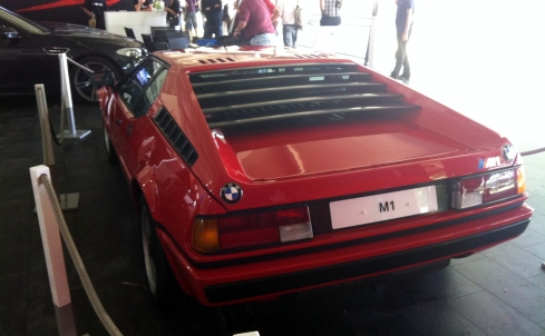 The original M1 meets the latest M5 on the BMW stand.