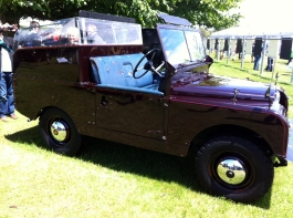 "The 1954 Land Rover Series II ""Royal Review Vehicle"" as used by Her Majesty The Queen."
