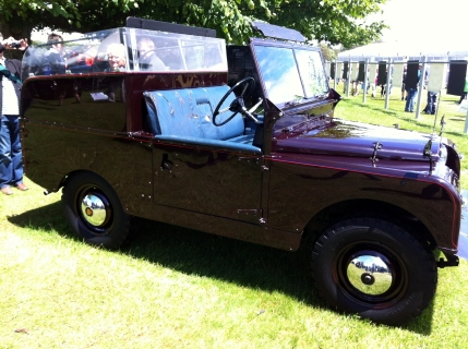 """The 1954 Land Rover Series II """"Royal Review Vehicle"""" as used by Her Majesty The Queen."""