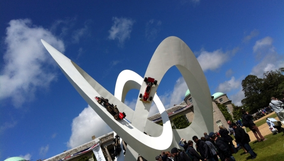 That stunning Lotus monument outside Goodwood House.