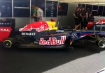 The Red Bull RB7; driven by Daniel Ricciardo on Friday ahead of SV's arrival on Saturday,