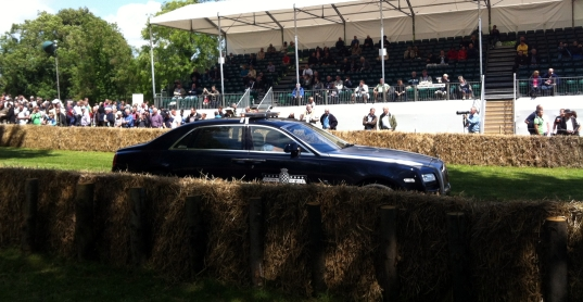 """This is the """"Course Director's"""" car; a locally sourced Rolls-Royce. Again, only something you would see at Goodwood."""