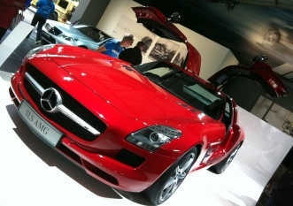 """Modern """"Gullwing"""" in the form of the SLS AMG."""