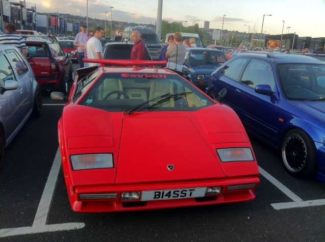 No, not American, but the read deal. Genuine Lamborghini Countach.