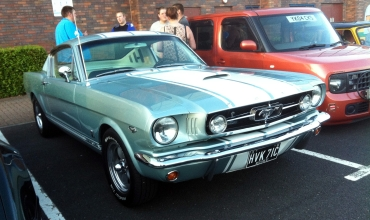 First generation Mustang mixes it with bōsōzoku Nissan Cube.