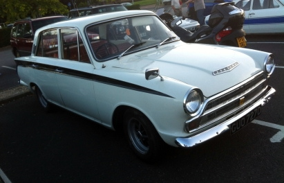 Classic Cortina was one of a number of Fords on display