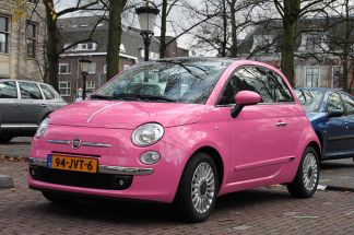 Not a standard Fiat colour, fortunately.