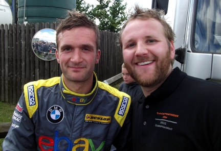 ESM's BTCC Correspondent and a delighted Colin Turkington after his race 2 victory.