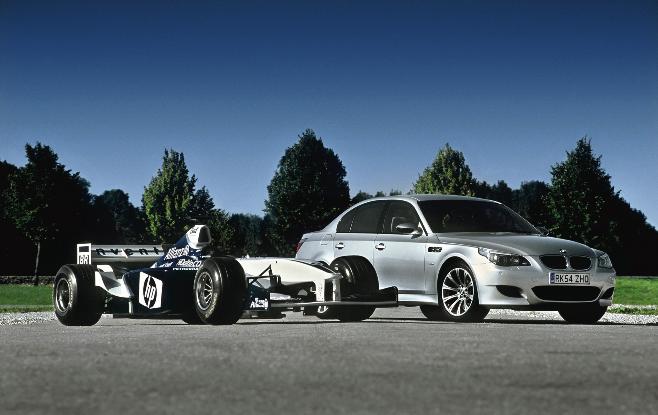 above picture, BMW were making almost as much noise about the E60 M5 ...