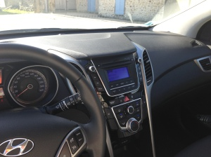 The Hyundai i30's stylish interior.