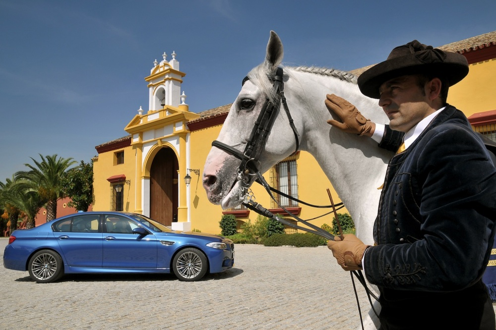 Perhaps he's trading the horse for the M5?