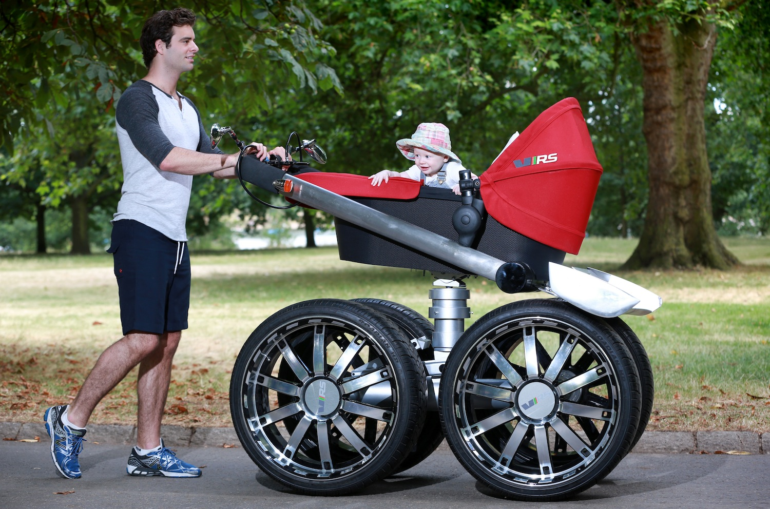 Skoda Vrs Mega Man Pram Concept on bmw car stroller