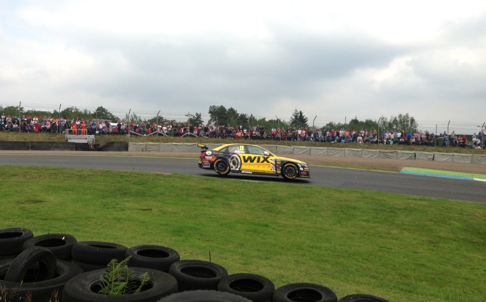 Rob Austin was pushing hard in race two.