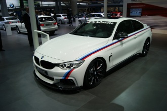 Sport kitted 4 Series Coupe looks cool with M body stripe.
