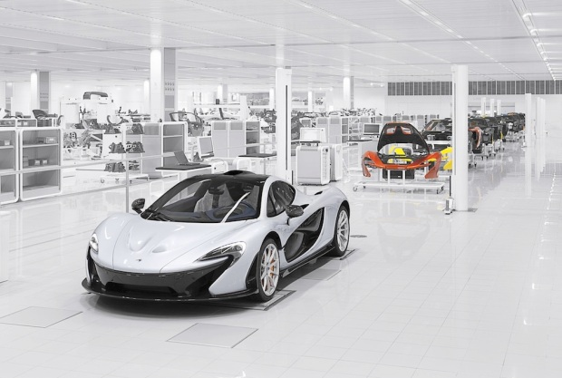 P1 under construction inside the Foster + Partners designed Production Centre.