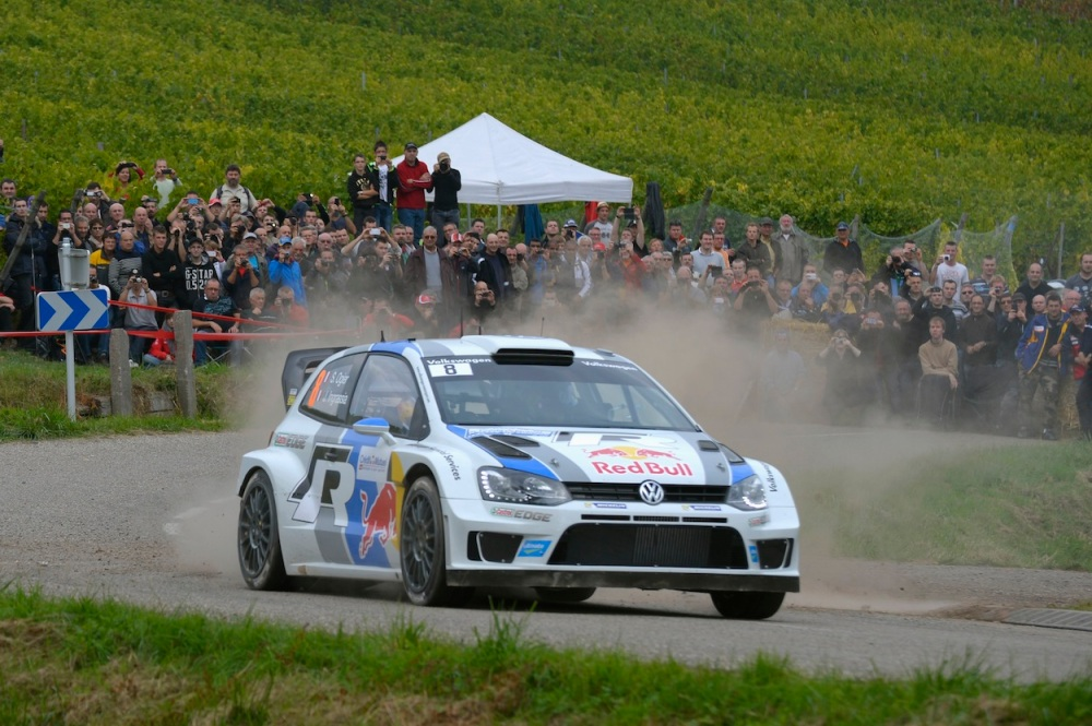 Ogier back to pushing hard on today's stages.