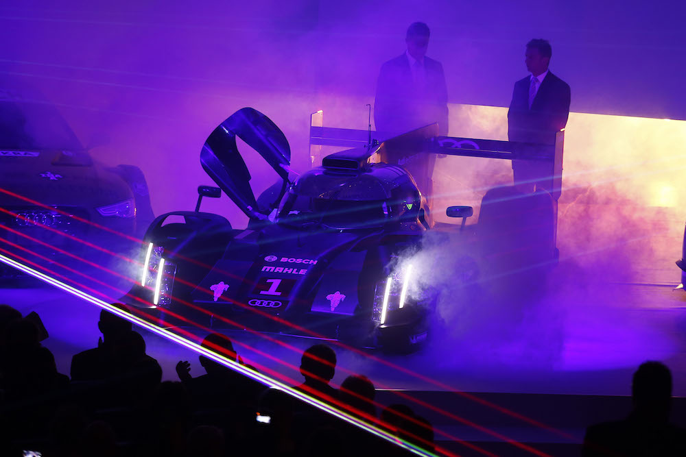 'Audi Sport Finale' event, with Allan McNish DJ'ing on the decks. Maybe.
