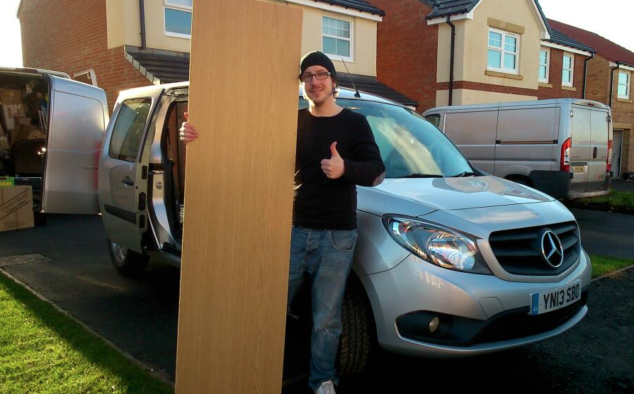Cheesy thumbs-up for the Citan on moving day! (Thanks Mercedes-Benz Vans)