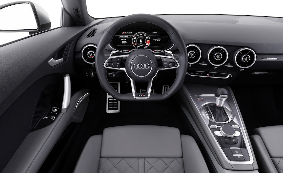 TTS Interior.Digital dashboard shown in 'dynamic' mode with rev counter dominating.