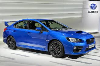 Subaru's WRX STI in WR Blue