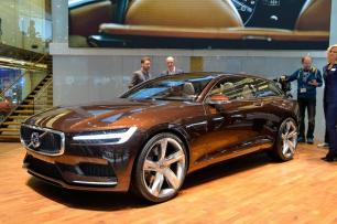Volvo's estate concept sticks with the brown.