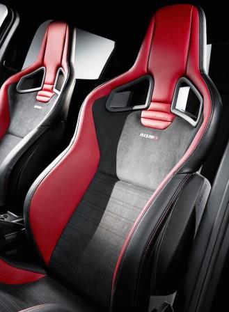 Optional Recaro bucket seats.