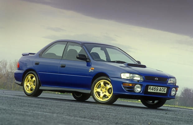 The Impreza, in happier times.