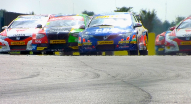 Jordan leads the way at the start of race two