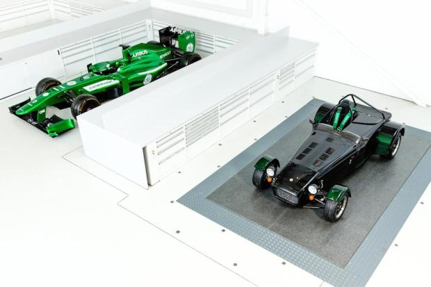 Caterham F1 not rumoured to be using the one on the right for the rest of the season.