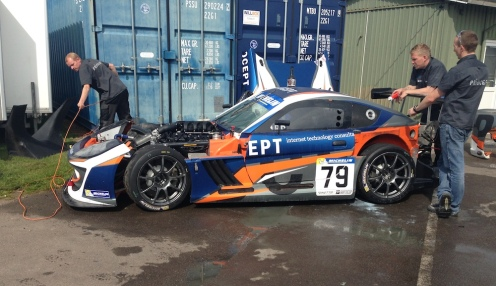 "The damage to Norris-Jones' car afterwards. Talk of what bits were ""salvageable"" going on."