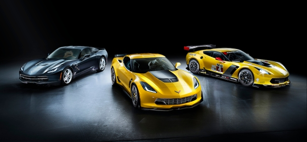 Corvette Stingray, Corvette Z06 and Corvette C7.R race car