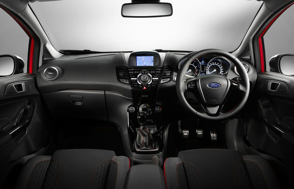 2014 Ford Fiesta Zetec S Red : Black Edition Interior 01 ...