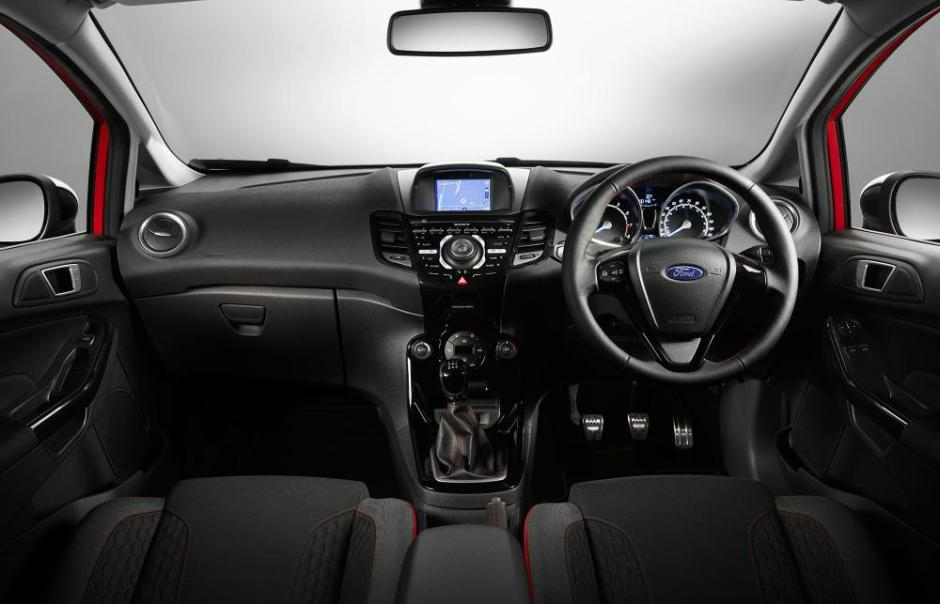 2014 Ford Fiesta Zetec S Red Black Edition Interior 01
