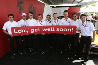 Loïc Duval in thoughts of team