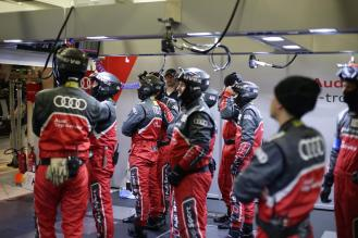 Audi Sport mechanics have faced an epic challenge before the race even starts