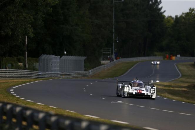 Number 14 Porsche in free practice