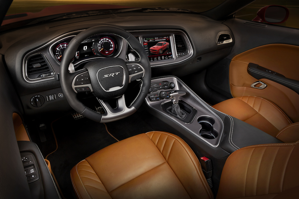 2015 Dodge Challenger SRT Hellcat Sepia Laguna leather