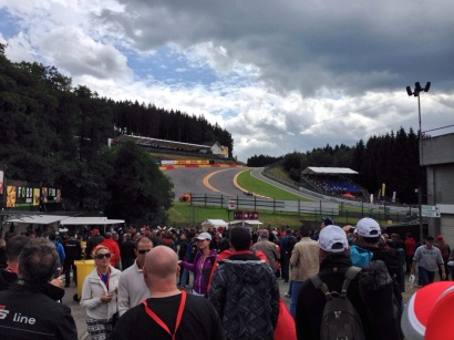 The first sight on entrance? The infamous Eau Rouge.